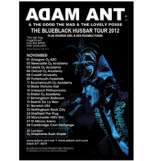official Adam Ant Small 2012 Tour Poster