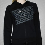 official Armor For Sleep Repeated Black Girls Zip Up
