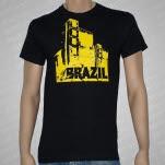 official Brazil Building Black T-Shirt