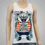 official Capture The Crown Cat Punk White Tank Top