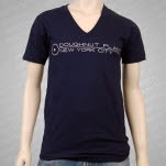 official Doughnut Plant Logo V Neck Navy T-Shirt