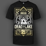official Drag The Lake Crest Black T-Shirt