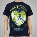 official Handguns Burning Navy T-Shirt