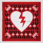 official Mayday Parade Broken Heart Red Bandana