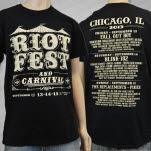 official Riot Fest Event 2013 Black T-Shirt