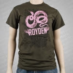 official Royden Snake Army Green T-Shirt