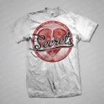 official SECRETS Heart White T-Shirt