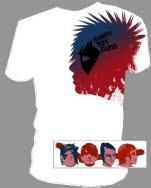 official Shiny Toy Guns Big Head White T-Shirt