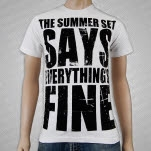 official The Summer Set Says White T-Shirt