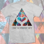 official The Summer Set Triangle Logo Heather Grey T-Shirt