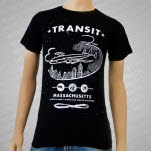 official Transit Plane Black T-Shirt