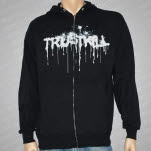 official Trustkill Records Stencil Black Hoodie Zip