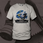 official War Generation Cat White T-Shirt