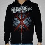 official War Of Ages Swords Black Hoodie Zip