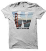 official Worthwhile Bay Area White T-Shirt